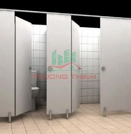 Thi công vách ngăn vệ sinh, vách ngăn vệ sinh compact
